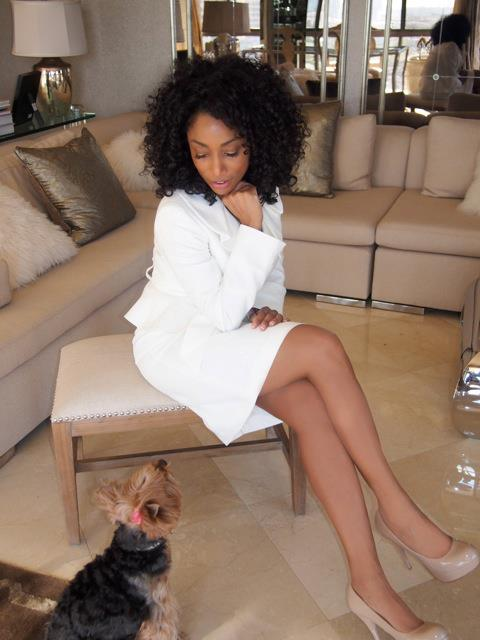 Karyn White on Couch